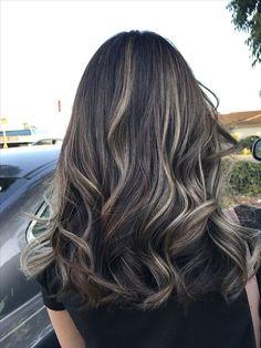 Balayage ❤️ love the result!Balayage ❤️ love the result! Brown Hair Balayage, Brown Blonde Hair, Hair Color Balayage, Brunette Hair, Hair Highlights, Black Hair With Highlights, Brunette Color, Art Visage, Ombré Hair