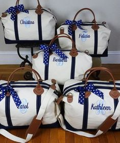 Canvas and Leather Weekender Bag Overnight Bag Monogram Duffle Bridesmaid Gifts From Bride, Bridesmaid Bags, Bridesmaids And Groomsmen, Bridesmaid Proposal, Bridesmaid Flowers, Wedding With Kids, Gifts For Wedding Party, Our Wedding, Dream Wedding