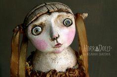 """HORKA DOLL                                                                            scared   """"Inge""""                                                                                                                                                                                                                    -----------           ------------ black-minded doll -----------"""