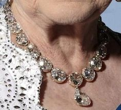 From Her Majesty's Jewel Vault: The Coronation Necklace and Earrings that both Victoria and Elizabeth wore for their Coronations.