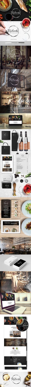 Elegant brand identity                                                                                                                                                     Más http://jrstudioweb.com/diseno-grafico/diseno-de-logotipos/