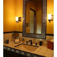 Bathroom spanish style tile Design Ideas, Pictures, Remodel and Decor