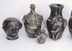 Face Jugs. An African-American southern folk art tradition.
