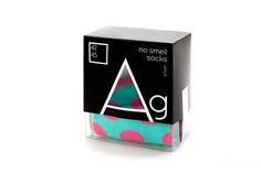 No smell....Argentum Socks on Packaging of the World - Creative Package Design Gallery