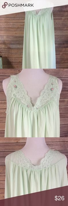 """Shadow Line Mint Gown Both mint in color and condition Sz large, Shadow Line.  100% nylon. Total length 41"""". A10 Shadowline Intimates & Sleepwear"""