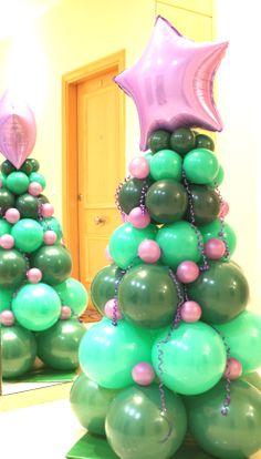 Árbol de Navidad estrella morada