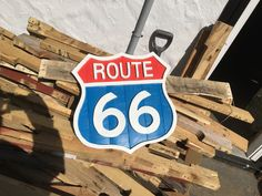 Route 66 wooden sign x Great piece for the Car lover. Route 66 Sign, Recycled Wood, Wooden Signs, Wood Art, Recycling, Etsy Seller, Black And White, Car, Home Decor