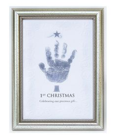 Take a look at this Silver '1st Christmas Celebrating Our Gift' Handprint Frame by Grandparent Gift Company on #zulily today!