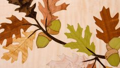 Oak Leaves and Acorns Marquetry Cabinet - by Craig Thibodeau