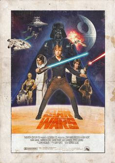 style fanart-movieposter for Star Wars Star Wars Episode 4, Star Wars Pictures, Star Wars Wallpaper, Star Wars Fan Art, Original Trilogy, Poster Layout, A New Hope, Princess Leia, Darth Vader