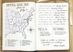 #Travel #journal #map