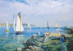Seascape. British artist Ted Dyer (born in 1940) .. Discussion on LiveInternet - Russian Online Diaries Service