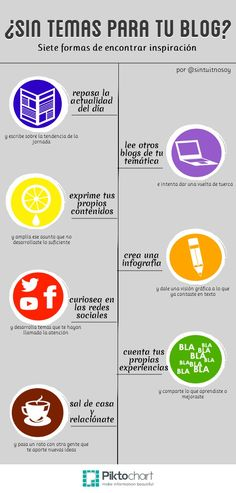 7 ideas de contenido para tu blog #infografia #infographic #marketing
