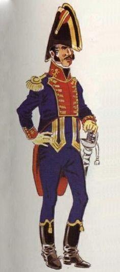 Rey 1808 Línea. Teniente diario