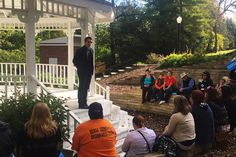 Hillary for Iowa @HillaryforIA   In Mount Vernon, actor @mishacollins explains the importance of voting early and electing Hillary to young voters. #WithHerFirst