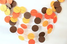 Thanksgiving Garland Fall Decor Fall Garland by MailboxHappiness Thanksgiving Photos, Thanksgiving Crafts, Thanksgiving Decorations, Fall Crafts, Holiday Crafts, Holiday Fun, Harvest Party, Fall Harvest, Autumn
