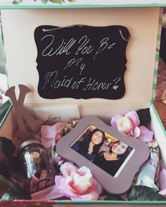 Bridesmaid proposal. Under the photo is the bridesmaid robe. Follow @lluvk