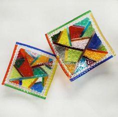 Fused glass bowls KALEIDOSCOPE | Fused glass - fusing