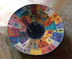 Barrio. A bowl constructed of fabric by Hilde Morin.