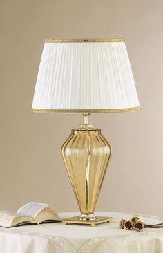 Lampe de table en verre artisanal de Murano. Fabrication sur mesure