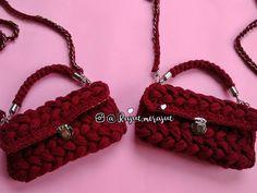 Crochet tyarn 3ways2wear bag. Clutch, handbag & slingbag. Party bag.