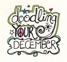 "Join me for my next online workshop, ""Doodling Your December""! http://www.dblogala.com Registration starts Sept. 15"