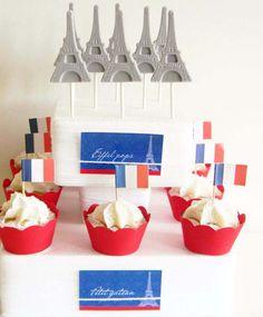 Piruletas y cupcakes para una fietsa Paris / Lollipops and cupcakes for a Paris party