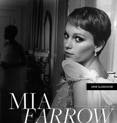 Mia Farrow introduced us to one of the most iconic pixies of all time. This cut was copied by the masses and still inspires many women to crop all of her hair off. And to think, she did this all by herself with a pair of nail scissors. Well, at least the first chop. This image is a professional cut.