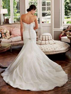 Sophia Tolli - Bridal  »  Style No. Y21377  »  Sophia Tolli  LOVE the detail in this train! Love this gown! Top pick