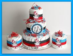 dr seuss baby shower ideas | ... In The Hat Diaper Cake , Dr Seuss Baby Shower, Baby Shower Decorations