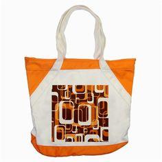 Retro Pattern 1971 Orange Accent Tote Bag