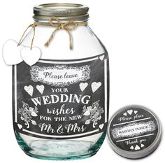 Words & Wishes Jar - Mr & Mrs