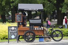 ideas for food truck design ideas mobiles coffee shop Food Trucks, Coffee Carts, Coffee Shops, Bike Coffee, Food Box, Coffee Food Truck, Mobile Coffee Shop, Bike Cart, Coffee Trailer