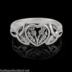 Scottish Thistle Sterling Silver Ring | eBay