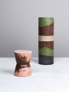 Home Decor Objects Ideas : Cement Ceramics by Studio Twocan. Photo – Elise Wilken, styling – Nat Turnbull for The Design Files. Ceramic Clay, Porcelain Ceramics, Candlestick Holders, Candlesticks, Ceramic Furniture, Potters Clay, Colour Story, Cute Room Decor, The Design Files