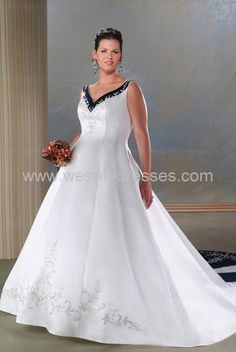 Modern plus size wedding dresses - US$140.17