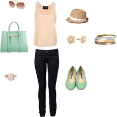 Perfect Casual Summer Night Outfit, created by blondy-cf on Polyvore