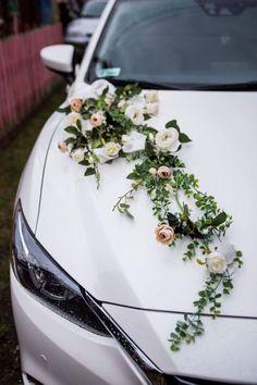 wedding car decoration ribbon bows NEL prom limusine decoration