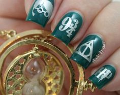 Harry Potter nail vinyls from Lacquer by Lissa