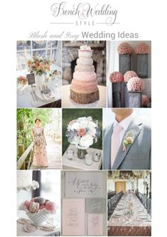 blush grey wedding ideas on French Wedding Style