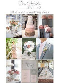 blush grey wedding ideas on French Wedding Style