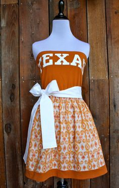 University of Texas Longhorns Game Day Dress   by jillbenimble