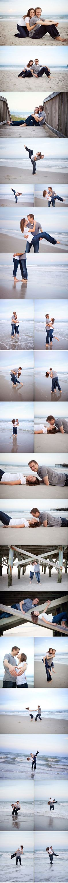 Beach engagement photos - perfect!