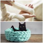 Você conhece a técnica do tricô de braço? Ela é bem simples e tem um resultado incrível - da pra fazer cobertores, puffs e camas para animais. Acesse  www.maniadedecoracao.com  e veja o passo a passo para iniciantes!  #diy #diydecor #facavocemesmo #decoracao #tricot #trico #inspiração #inspiration #decor Au Pair, Merino Wool Blanket, Dyi, Diy And Crafts, How To Make, Colorado, Instagram, Health, Fitness