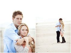 Romantic Peach and Blue Engagement Shoot By The Beach | Bridal Musings | A Chic and Unique Wedding Blog