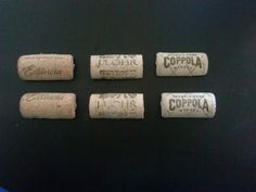 Set Of Six Wine Cork Magnet by thisisourname on Etsy, $6.00