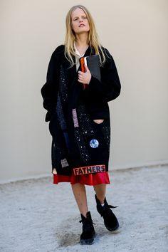 Hanne Gaby Odiele showed off a punk schoolgirl-inspired look.