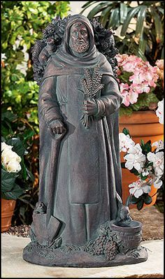 1000 Images About St Fiacre Patron Saint Of Gardeners On Pinterest Garden Statues Statue