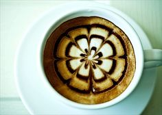 Are your spring gardens in bloom yet? At least they are in your coffee cup! Coffee Latte Art, Coffee Is Life, I Love Coffee, Coffee Cafe, Coffee Break, Coffee Drinks, Coffee Shop, Coffee Lovers, Bloom Coffee