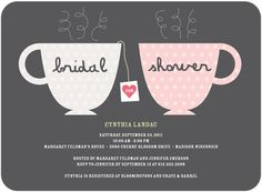 Charming Teacups bridal shower invite